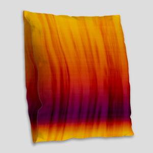 Orange And Purple Fabric Burlap Throw Pillow