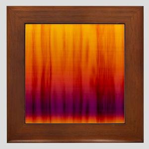 Orange And Purple Fabric Framed Tile