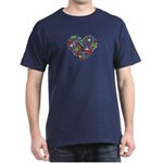 Chile World Cup 2014 Heart Dark T-Shirt