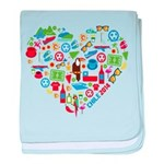 Chile World Cup 2014 Heart baby blanket