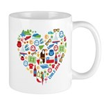 Chile World Cup 2014 Heart Mug