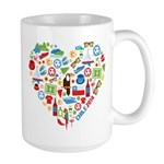 Chile World Cup 2014 Heart Large Mug