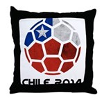 Chile World Cup 2014 Throw Pillow