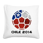 Chile World Cup 2014 Square Canvas Pillow