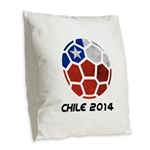 Chile World Cup 2014 Burlap Throw Pillow