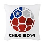 Chile World Cup 2014 Woven Throw Pillow