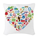 Chile World Cup 2014 Heart Woven Throw Pillow