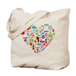 Chile World Cup 2014 Heart Tote Bag