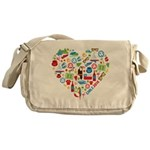 Chile World Cup 2014 Heart Messenger Bag