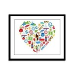 Chile World Cup 2014 Heart Framed Panel Print