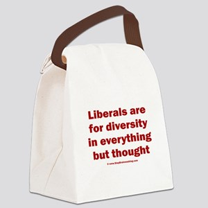 No diversity in liberal thought Canvas Lunch Bag