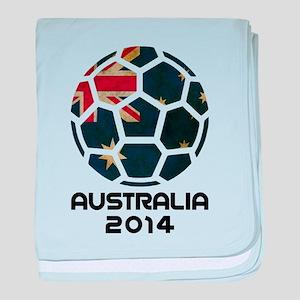 Australia World Cup 2014 baby blanket