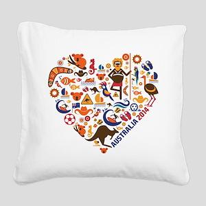 Australia World Cup 2014 Hear Square Canvas Pillow