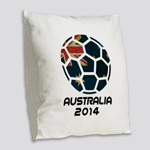 Australia World Cup 2014 Burlap Throw Pillow