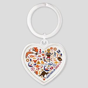 Australia World Cup 2014 Heart Heart Keychain