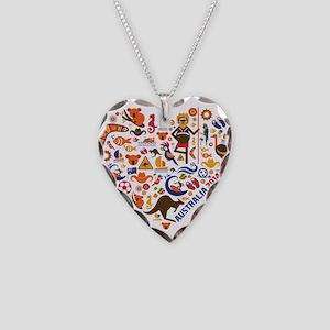 Australia World Cup 2014 Hear Necklace Heart Charm