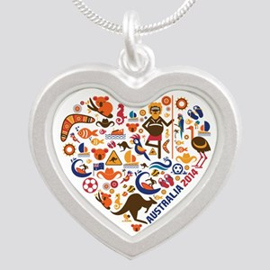 Australia World Cup 2014 Hea Silver Heart Necklace