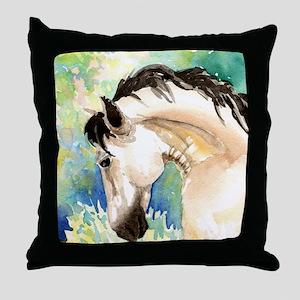 Spring Horse Throw Pillow
