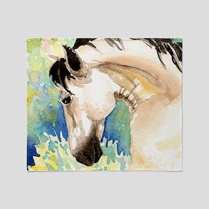 Spring Horse Throw Blanket