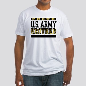 Proud U.S. Army Brother Fitted T-Shirt