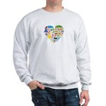 Colombia World Cup 2014 Heart Sweatshirt