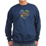 Colombia World Cup 2014 Heart Sweatshirt (dark)