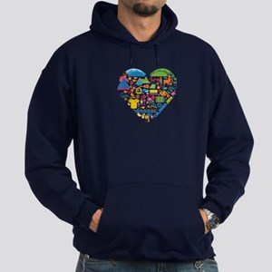 Colombia World Cup 2014 Heart Hoodie (dark)