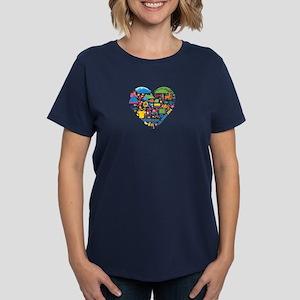 Colombia World Cup 2014 Heart Women's Dark T-Shirt