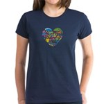 Colombia World Cup 2014 Heart Women's Dark T-Shirt