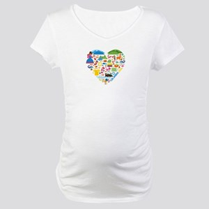 Colombia World Cup 2014 Heart Maternity T-Shirt