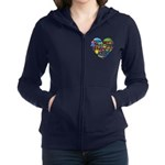 Colombia World Cup 2014 Heart Women's Zip Hoodie