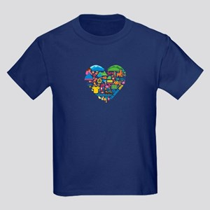 Colombia World Cup 2014 Heart Kids Dark T-Shirt