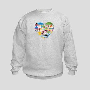 Colombia World Cup 2014 Heart Kids Sweatshirt