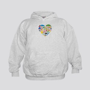 Colombia World Cup 2014 Heart Kids Hoodie