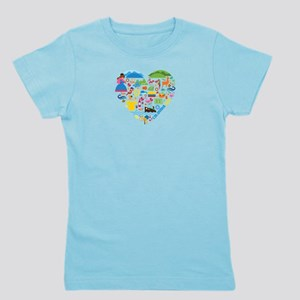 Colombia World Cup 2014 Heart Girl's Tee