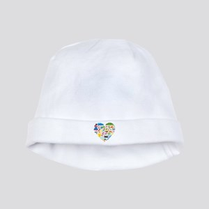 Colombia World Cup 2014 Heart baby hat