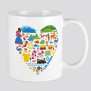 Colombia World Cup 2014 Heart Mug