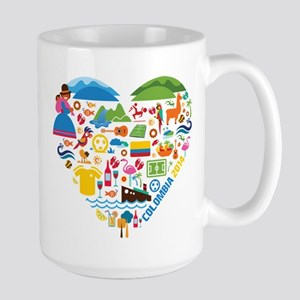 Colombia World Cup 2014 Heart Large Mug