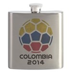 Colombia World Cup 2014 Flask
