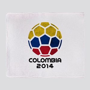 Colombia World Cup 2014 Throw Blanket