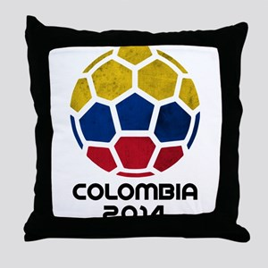 Colombia World Cup 2014 Throw Pillow