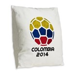 Colombia World Cup 2014 Burlap Throw Pillow