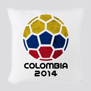 Colombia World Cup 2014 Woven Throw Pillow