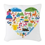 Colombia World Cup 2014 Heart Woven Throw Pillow