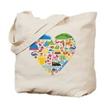 Colombia World Cup 2014 Heart Tote Bag