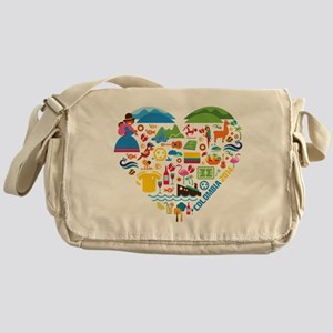 Colombia World Cup 2014 Heart Messenger Bag
