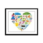 Colombia World Cup 2014 Heart Framed Panel Print