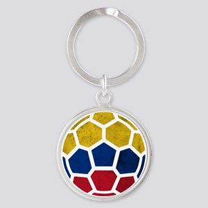 Colombia World Cup 2014 Round Keychain