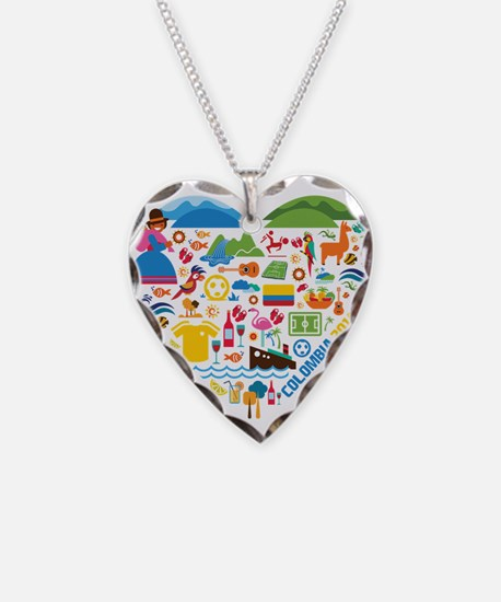 Colombia World Cup 2014 Heart Necklace