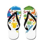 Colombia World Cup 2014 Heart Flip Flops